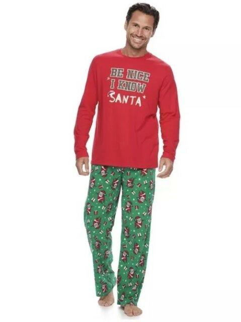 Jammies for Your Families Men 2 Pc Christmas Pajama Set Top .