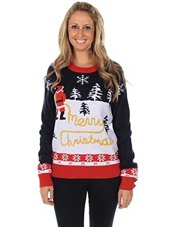 Amazon.com: Tipsy Elves Women's Ugly Christmas Sweater - Yellow .