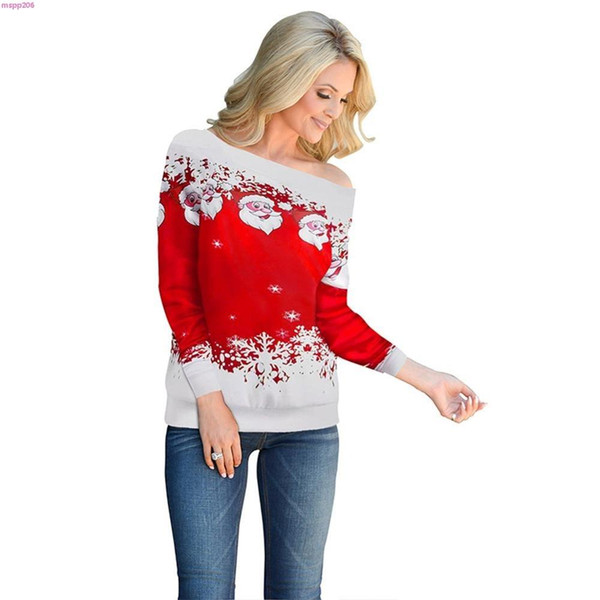 2020 Women Casual Ugly Sweater Christmas Sweater Santa Claus .