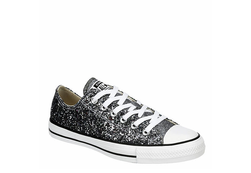 Silver Converse Womens Chuck Taylor All Star Glitter | Athletic .