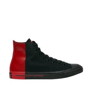 "Converse Chuck Taylor All-Star Seek Peace ""Black/Red"" Unisex Shoe ."
