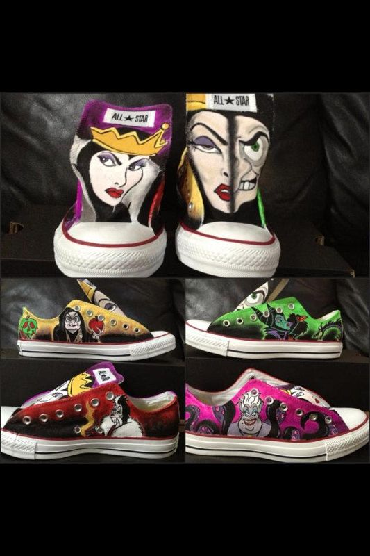 Disney Villains!! Custom Adult Chucks/Converse- Design YOUR shoes .