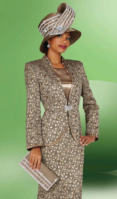 Ladies Church Suits BenMarc International 3pc Print Suit 4437 .