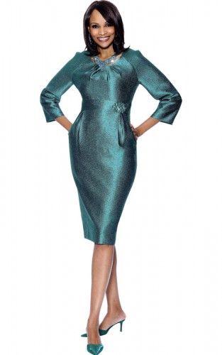 Terramina's Church Dress 7307 Teal On Sale At GorgeousSundays.com .