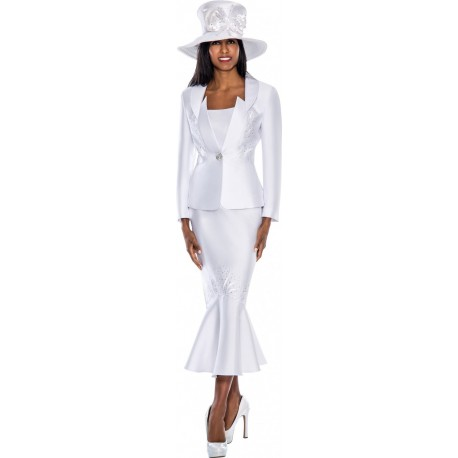 GMI G5692 White Womens Church Sui