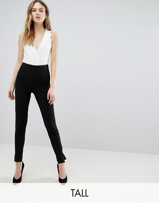 Missguided Tall cigarette trousers in black | AS