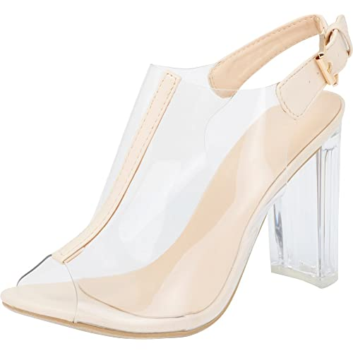 Clear Shoes Heels: Amazon.c