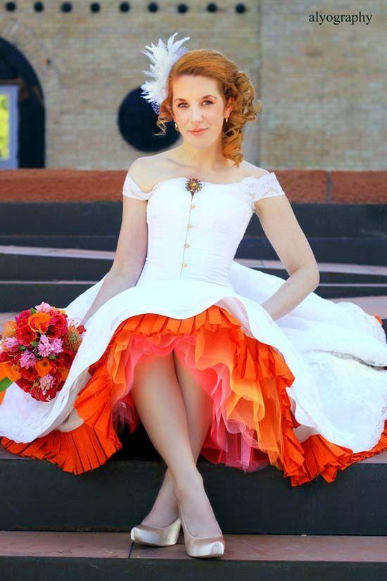 Top 45 Tea-length Wedding Dress with Color on Pinterest | Kleider .