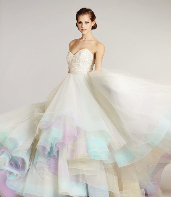 Color on White? 20 Beautiful White Wedding Dresses with a Touch of .