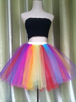 Aliexpress.com : Buy Puffy Brand New 2015 Color Block Rainbow Tutu .