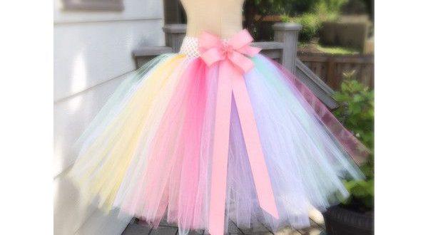 Pastel Rainbow Adult Tutu Skirt Bachelorette Tutu. ($35) ❤ liked .