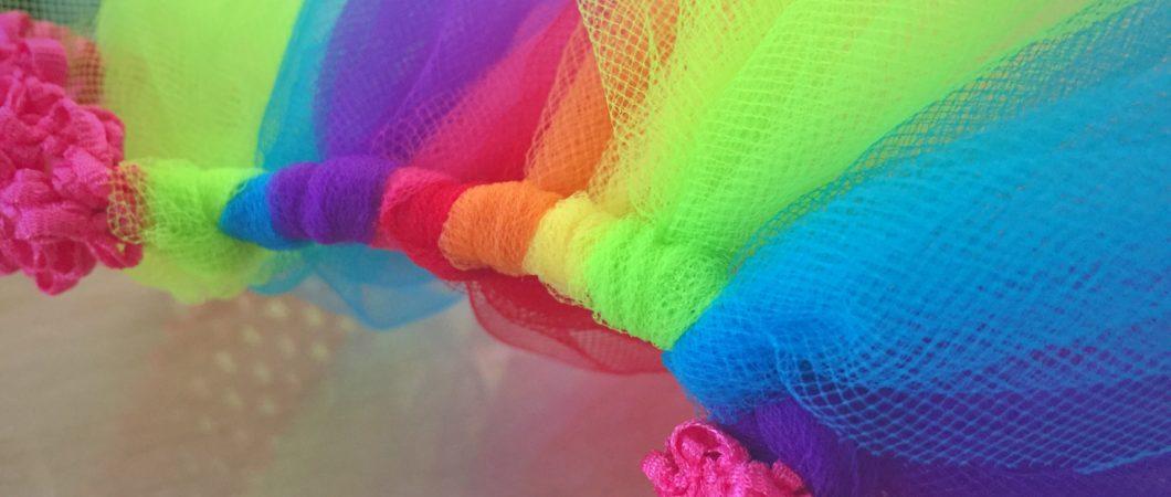 How to make a rainbow tutu skirt - Christina All D
