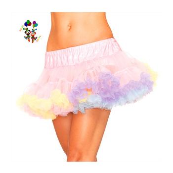 Adult Womens Rainbow Colors Puffy Mini Tutu Skirts Hpc-0971 .
