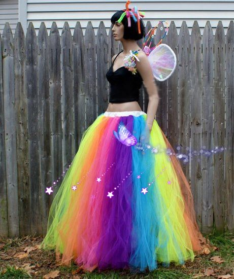 Custom Made Female Rainbow Skirt Stage Skirts,Adult Children Long .