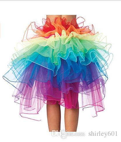 2020 Sexy Rainbow Tutu Skirt Organza Tulle Tutu Skirts Adult .