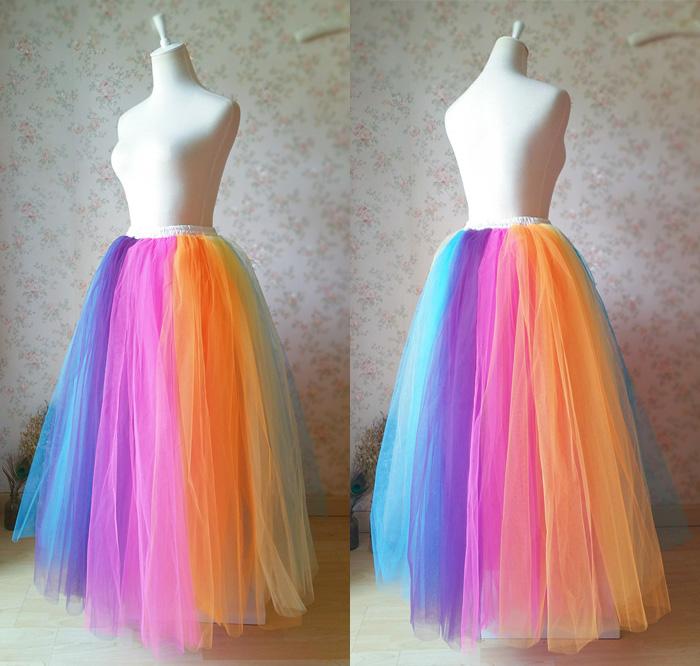 Women Rainbow Tulle Skirt Any Size · Dressromantic · Online Store .