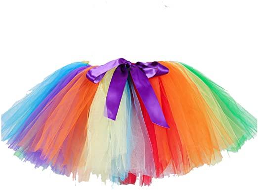 Amazon.com: Women Rainbow Tutu Skirts Carnival Party Fluffy Tutus .