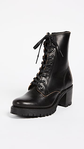 Frye Sabrina Combat Heeled Boots | SHOPB