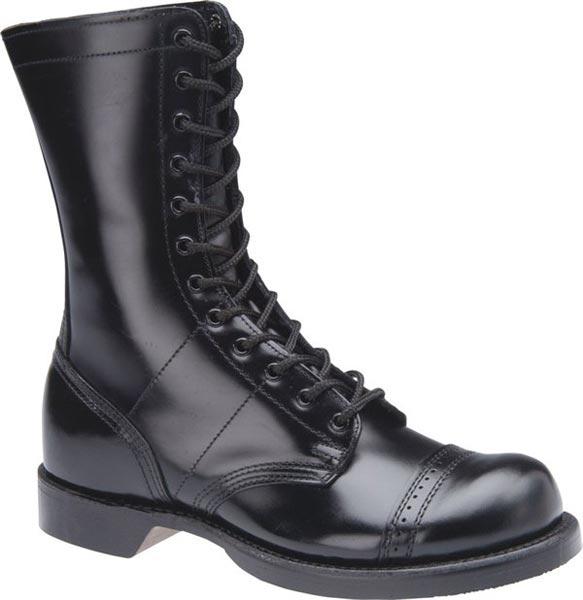 Corcoran 1500 Black Leather Combat Boot | Men's 10 inch Black .