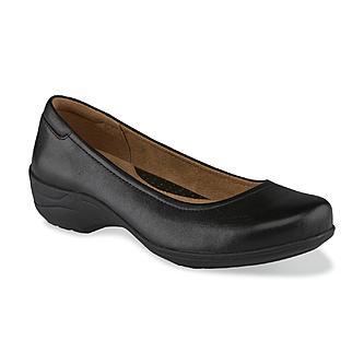 I Love Comfort Women's Blake Leather Slip-On Shoe - Black Wide Wid