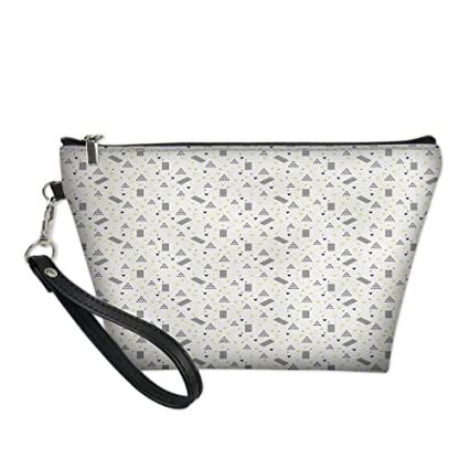 Amazon.com : Women Toiletry Cosmetic Bag, Contemporary Doodle .