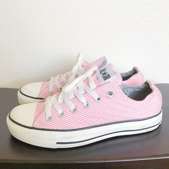 Converse Shoes | Baby Pinkwhite Striped Low | Poshma
