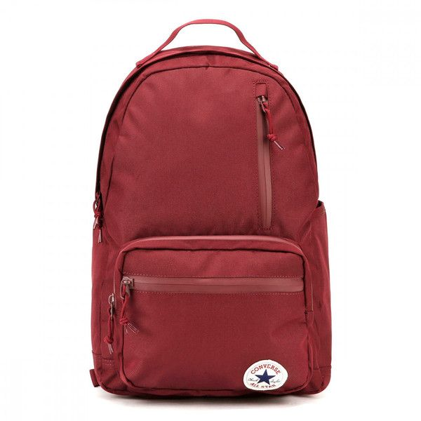 Converse Burgundy The Go Backpack ($45) ❤ liked on Polyvore .