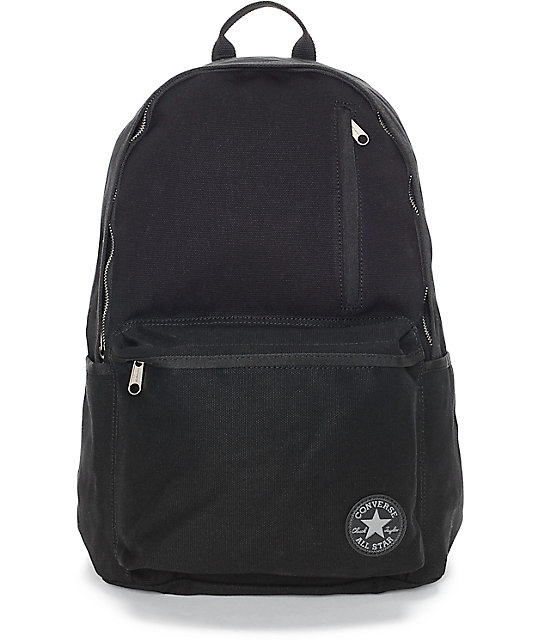 Converse Original Black Canvas Backpack | Zumi
