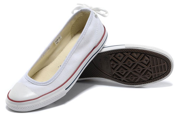 Converse uk sale - all star dainty ballerina flat low white shoes .