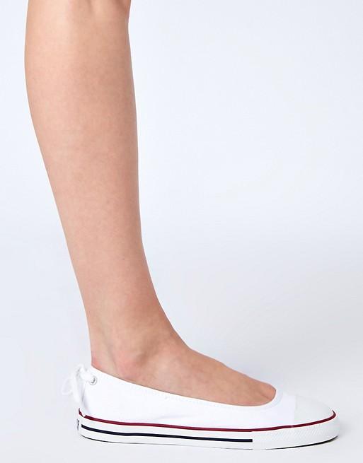 Converse Chuck Taylor All Star Dainty White Ballerina Shoes | AS