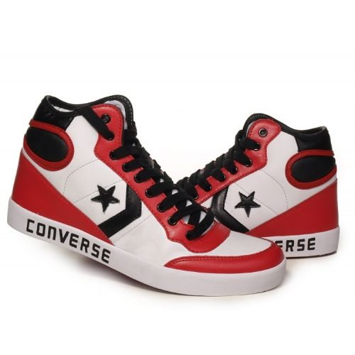 Converse basketball shoe leather high | Converse basketball shoes .