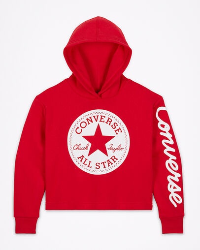 Converse Chuck Taylor Patch Cropped Girls Hoodie. Converse.c