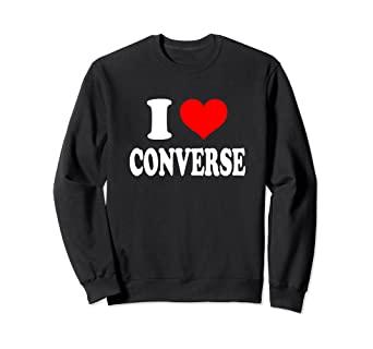 Amazon.com: I Love Converse Sweatshirt: Clothi