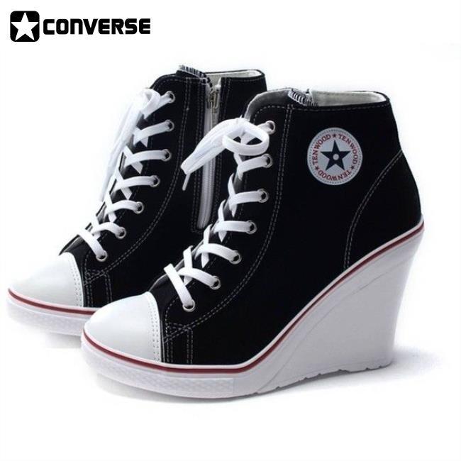 Converse Heels Black doublebarrelrecords.c