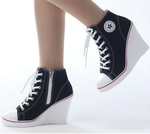 Wedges Trainers Heels Sneakers Platform High Top Ups Zip Boots .