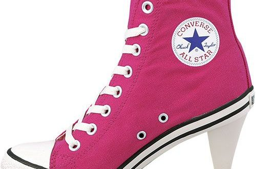 High heel Converse. (With images) | Converse heels, Converse high .
