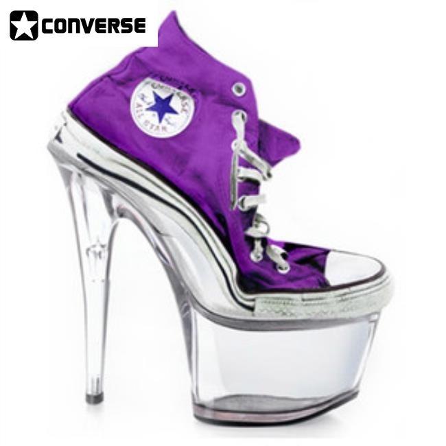Converse Heels Purple doublebarrelrecords.c