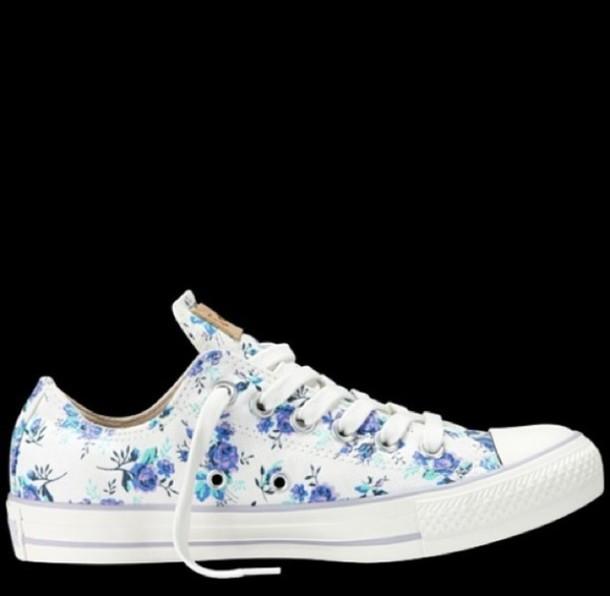 shoes, converse, low tops, floral, converse, floral shoes, cute .