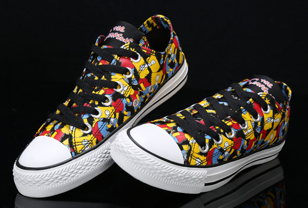 Converse Simpsons Print Chuck Taylor All Star Multi-Colored Low .