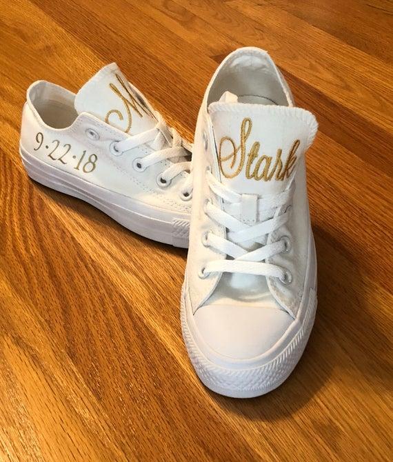 Bridal Shoes Custom Converse Low Tops Bridal Converse | Et