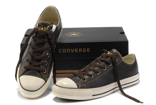 Brown Leather Converse All Star Overseas Edition Low Tops Sho