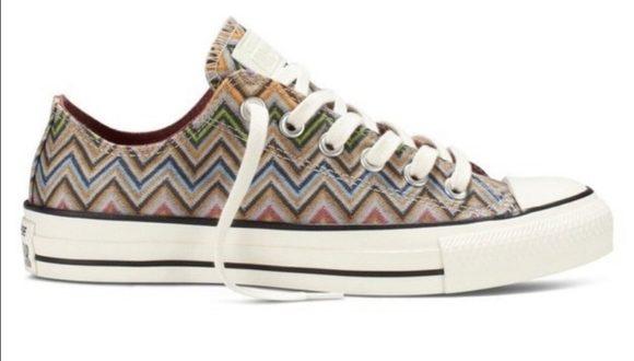 Converse Shoes | X Missoni Chevron Printed Sneakers | Poshma