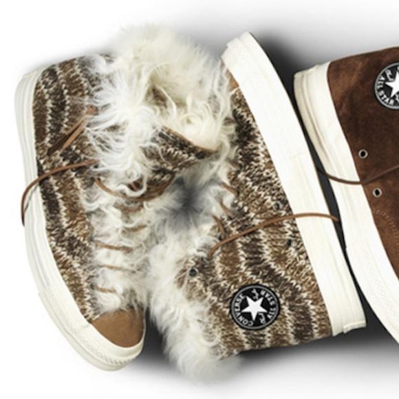 Converse Shoes | Missoni X Knit Shearling High Top Chucks | Poshma