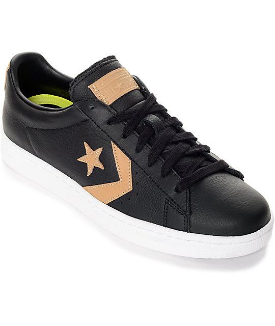 Converse Pro Leather 76' Black, Tan & Black Shoes | Zumi