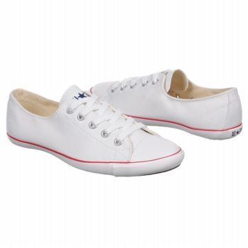 Slim Converse White/Red | White leather sneakers, Sneakers fashion .