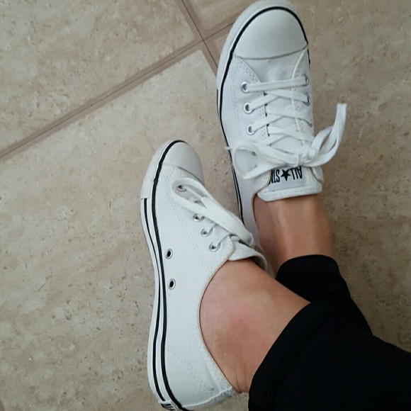 Converse Shoes | All White Convese All Stars Slim Sole Low Top .