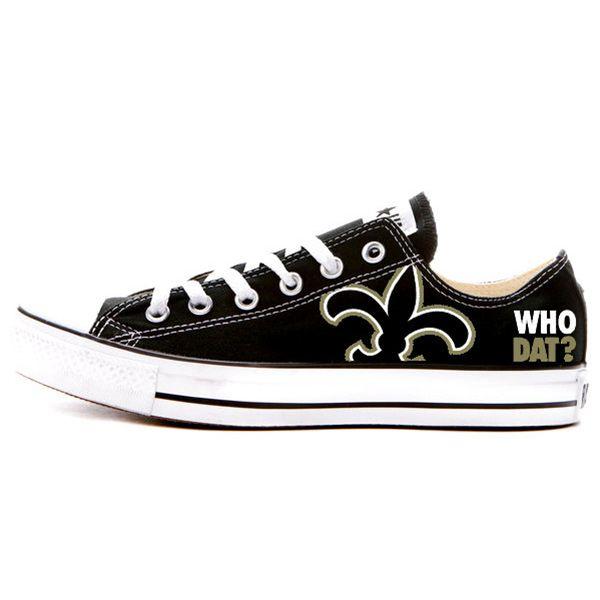 New Orleans Saints Converse Shoes   New orleans saints, Converse .