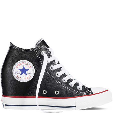 Converse - Chuck Taylor All Star Lux Wedge - Black - Mid .