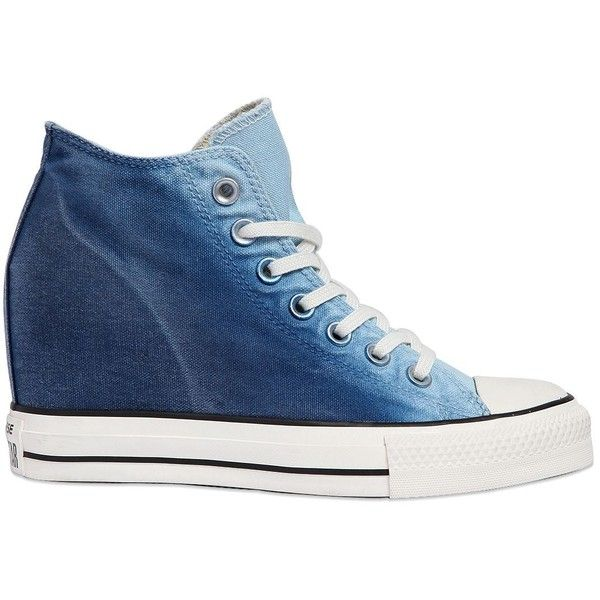 converse-factory$29 on | Blue wedge shoes, Wedge sneakers, Blue .