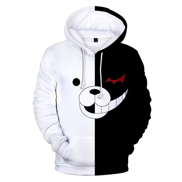 Anime Danganronpa Monokuma Cosplay Hoodie Sweatshirt Casual .